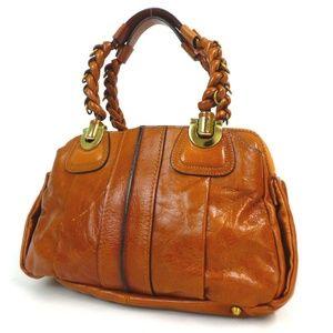 Auth Chloe Leather Shoulder Bag #1391C42